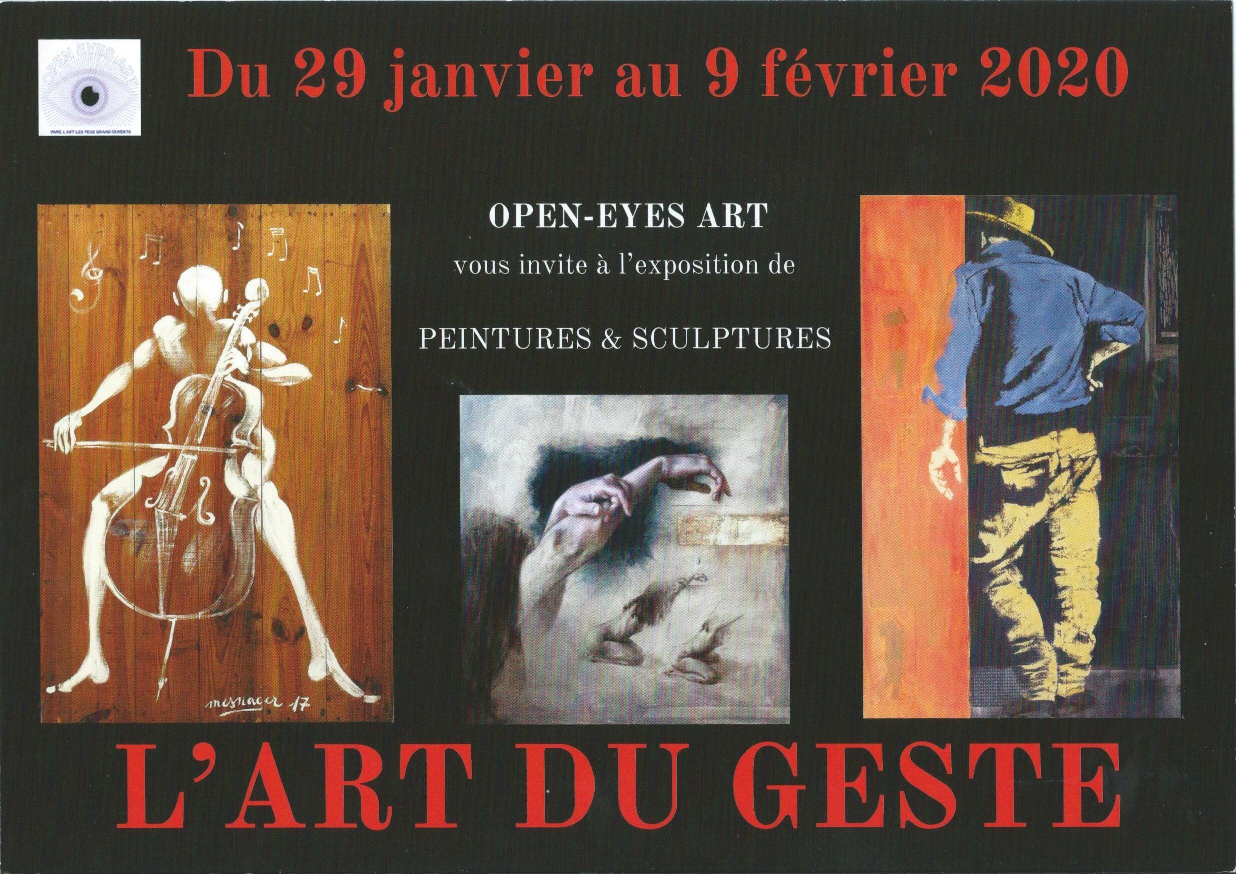 Affiche de l'exposition l'art du geste